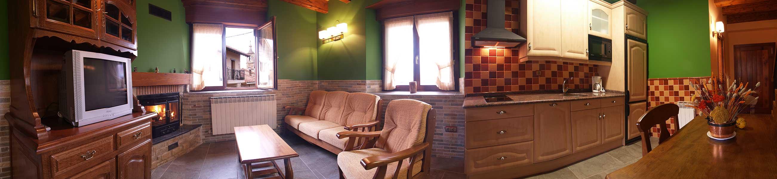 Casa Rural Gaztelubidea-Salón